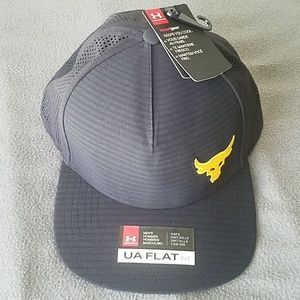 RARE under armour rock project flat bill hat